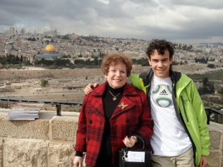 My Grandson & I touring Israel 2011