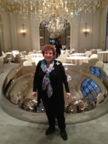 Me at The Plaza Athenee in Alain Ducasse's Restaurant