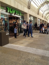 inside Jerusalem Mall/young Arab family